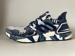 Adidas Ultraboost 20 Navy Pink Camo Womens Running Shoes FV8357 W 7.5