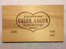 1 Rare Wine Wood Panel Chateau Calon Segur Vintage CRATE BOX SIDE 4/18 241