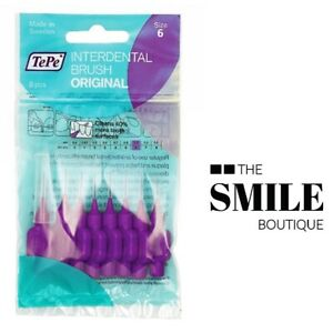 TePe Interdental Brush, Purple, Size 6 / 1.1mm - Pack of 8