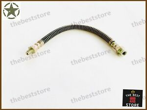 """WILLYS JEEP FRONT BRAKE HOSE 12-1/4""""(FRAME TO TEE FITTING)(FITS SEE DESCRIPTION)"""
