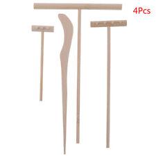 4Pcs Zen Garden Set Meditation Tools Home Decor Bamboo Rake AccessoriesS2