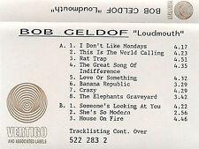 Bob Geldof Loudmouth ADVANCE PROMO CASSETTE ALBUM Best Of The Boomtown Rats