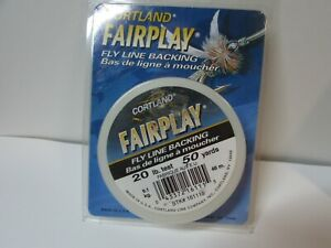 NEW CORTLAND FLY LINE BACKING  FAIRPLAY SERIES 20 lb test 50 yards