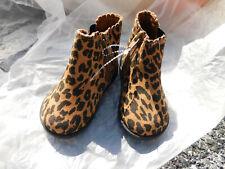 Garanimals Toddler Leopard Tiger Panther Print ankle Boots w/ Zipper Sz. 5 New