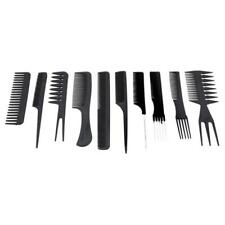 10 PCS SALON STYLE COMB ASSORTED HAIRDRESSING SET BRUSH WIDE TOOTH COMBS LARGE H