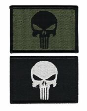 Black & Olive Punisher Military Tactical Airsoft Paintball  Operator Cap Patch