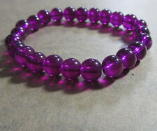 New Charm Clear/Translucent 8MM 30pcs Round Glass Spacer Beads Purple