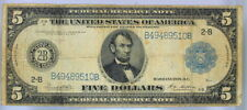 VG SERIES 1914 $5 FEDERAL RESERVE NOTE NEW YORK  2-B   (10)