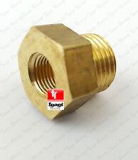 M10x1 FML To M12x1.25 Male Reducer Oil Pressure Gauge Adapter Brass sump