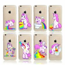 Funny Unicorn Crystal Cover Gel Case For iPhone 8/7/6s/Samsung Galaxy S7 Edge/S8