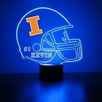Illinois Fighting Illini Personalized Night Light NCAA College Football LED