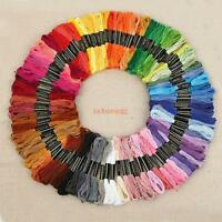 100 Skeins Multi-color Cross Stitch Cotton Hand Embroidery Thread Floss Sewing