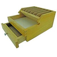 Layette en bois pour outil établi horloger bijoutier modèliste Tool Box bench