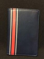 NWT Neiman Marcus Blue Pleather Passport Wallet Travel case FS