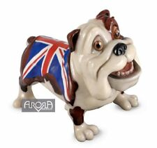 Retired Pets with Personality Bulldog Union Jack Winston Stoneware Sculpture NIB