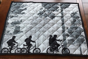 Sttanger Things Pillow Cases Quilted Bicycles In The Woods