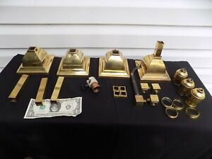 LOT OF ARTS AND CRAFTS LIGHT FIXTURE PARTS