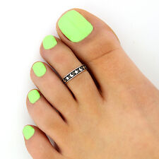 Sterling silver 925 toe ring Moon and Star design adjustable toe ring (T-117)