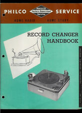 Philco Record Changer Player Handbook Rare Vintage Original Factory Manual