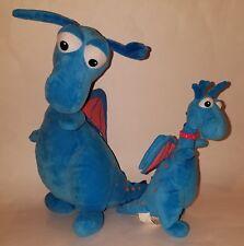 "2 Stuffy Doc McStuffins Plush Disney Blue Dragons Stuffed Animal Lot 14"" TALKS!"