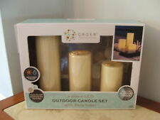BRAND NEW  INDOOR/OUTDOOR 3 Piece LED Candle Set With Daily 4 hour Timer