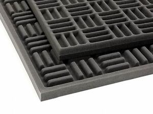 2 GIANT-SIZED sheets professional grade Acoustic GRID Studio foam soundproofing