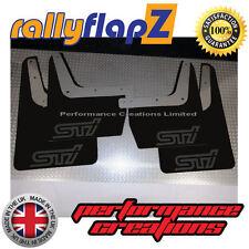rallyflapZ SUBARU IMPREZA Classic (93-01) Mudflaps Black STi Matt Black 4mm PVC