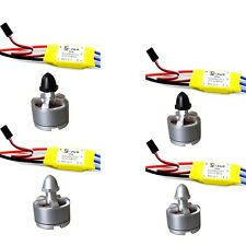 4pcs 30A ESC+4x 2212 920KV Brushless Motor for DJI Phantom rc Quadcopter drone S