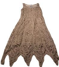 R&M richards dress Tan Beaded New Size Small Flapper Dress