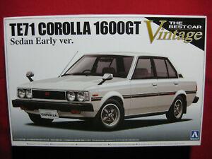 1979 Toyota Corolla 1600GT Sedan Early Version TE71 1:24 Aoshima Best Vintage