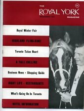 ROYAL YORK MAGAZINE NOVEMBER 1962 Toronto Tourism Nightclubs Dinning ROM Ads