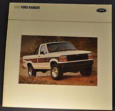 1990 Ford Ranger Pickup Truck Brochure STX XLT Custom 4x4 Excellent Original 90