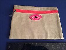 """""""ALIKI"""" KOKU Pochette SILVER GREY/PINK PLEXI DESIGNER BAG MINT w/cardboard WOW"""