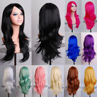 New Womens 70cm Long Wavy Curly Hair Synthetic Anime Cosplay Full Wig Wigs Party
