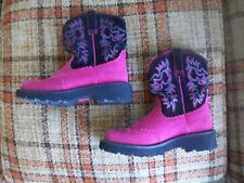 """Ariat Womens 8B (Euro 38.5M) PInk-Magenta Suede Boots (9"""") Style 10014842"""