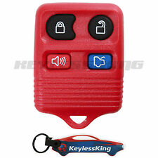 Replacement for Ford Mustang - 1999 2000 2001 2002 2003 2004 2005 06 Remote Red