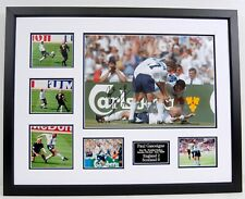Paul GAZZA Gascoigne Signed & Framed England Dentist Chair Photo AFTAL RD COA