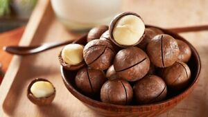 Macadamia Nuts in the Bowl Full Macadamia Nuts Left Untreated Natural 2000 gr.