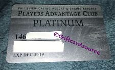FALLSVIEW/CASINO NIAGARA CANADA PLAYERS ADVANTAGE PLATINUM SILVER COLLECTIBLE