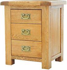 Bracken solid oak bedroom furniture bedside cabinet stand unit