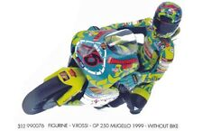 MINICHAMPS 312 990076 V Rossi figure World Champion GP 250 Mugello 1999 1:12th