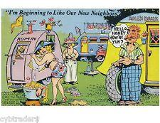 Vintage Travel Trailer Art Funny Neighbors  Refrigerator / Tool  Box  Magnet
