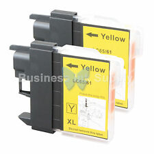 2 YELLOW LC61 Ink for Brother MFC-J630W MFC-J615W MFC-J415W MFC-J410W MFC-J270W