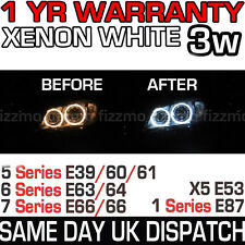 NEW BMW XENON WHITE ANGEL EYE HALO RINGS 7000K LED MARKER BULB 1 5 6 7 X5 SERIES