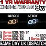 NEW BMW XENON WHITE ANGEL EYE HALO RINGS 7000K LED MARKER BULB 1 5 6 7 X5 SERIES