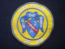 """US Navy Destroyer USS PHILIP DD-498 """"Get At The Source"""" - Vietnam War Patch"""