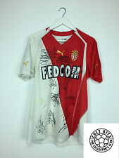 Monaco *SQUAD SIGNED* 04/05 Home Football Shirt (L) Soccer Jersey