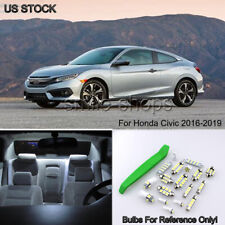 For 2016-2019 Honda Civic Bright White LED Interior Lights package kit + Tool