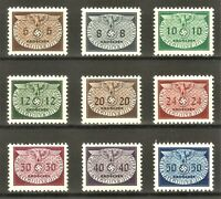 Nazi WWII Germany Rare WW2 Stamps 1940 MNH Swastika Eagle German Post in Poland