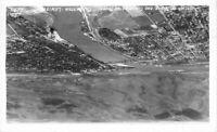 Aerial View Snake Clearwater Lewiston Idaho Ellis 1940s RPPC Postcard 20-2365